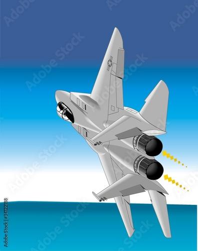 Deurstickers Militair ary airplane