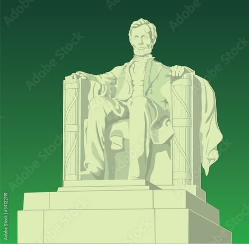 Photographie  lincoln statue