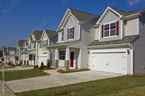 Fototapeta Row of new suburban houses obraz na płótnie