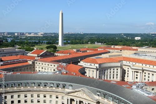 Foto op Plexiglas Artistiek mon. Aerial view on Washington DC
