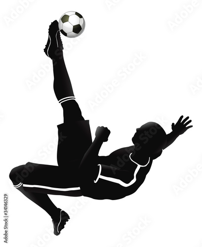 Photo  Soccer football player illustration