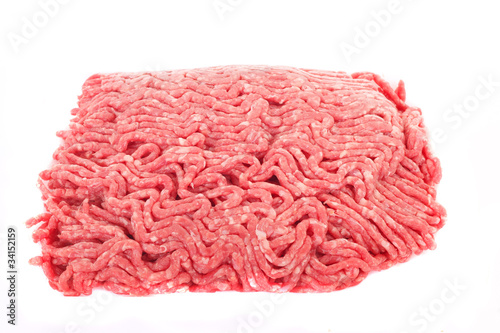 Photo  Ground Beef Isolated on White