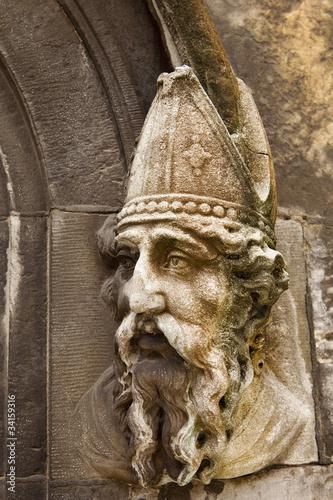 Saint Patrick Stone Carving Poster