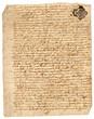 canvas print picture - papier parchemin manuscrit