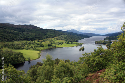 Fototapety, obrazy: The Queen's view near Pitlochry,Scotland