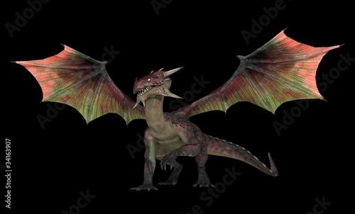 Poster Draken Red dragon