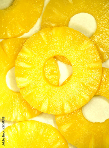 Photo Stands Slices of fruit Pineapples