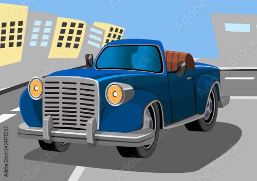 Foto op Canvas Cars cartoon old car eight