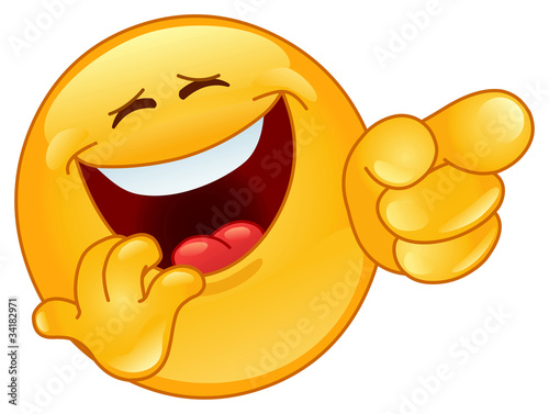 Fotografia  Laughing and pointing emoticon