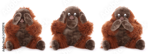les trois singes de la sagesse Canvas-taulu