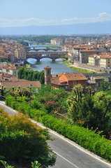 Fototapeta na wymiar Ville de Florence, Italie.