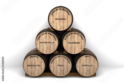 Fototapeta Tipos de vinos de la provincia de Cádiz
