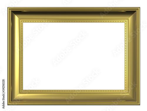 Gold Frame Isolated On White Background Kaufen Sie Diese