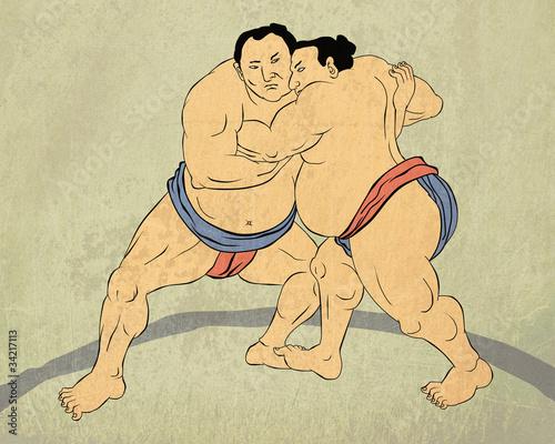 Obrazy do salonu kosmetycznego  japonski-zapasnik-sumo