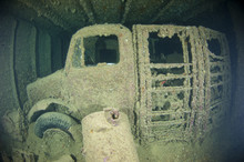 Truck Inside The Hold Of A Lar...