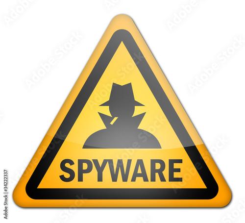 """Fotografía  Hazard Sign """"Spyware"""""""