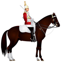 Horse Guardsman In Vector