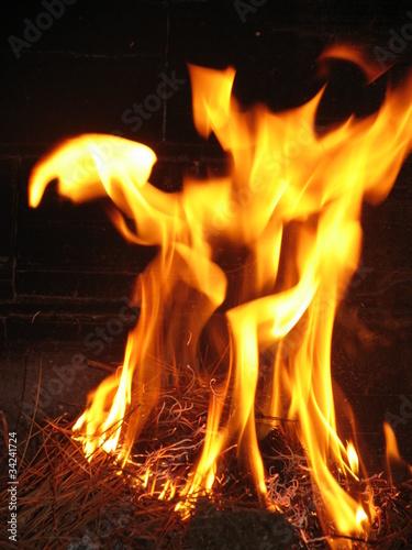 Les flammes de l'enfer Canvas Print