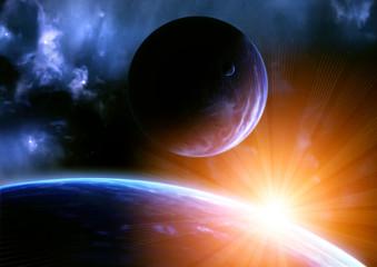 Fototapeta kosmiczny błysk