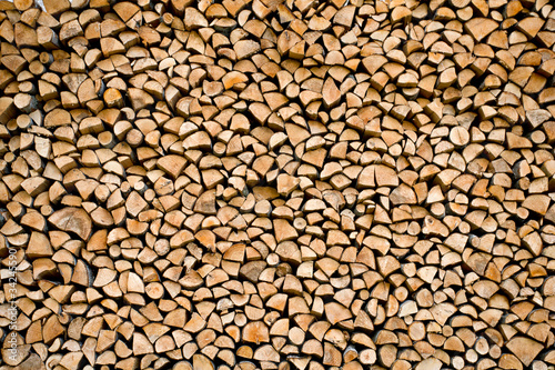 stacked firewood #34245590