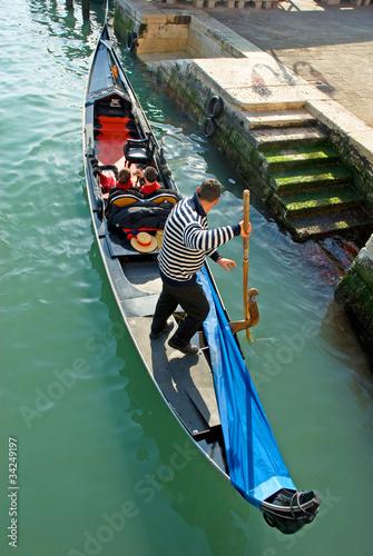 Foto op Canvas Gondolas Italy, Venice gondola