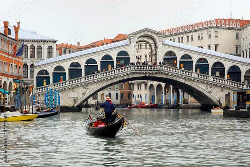 Italy, Venice the Rialto bridge