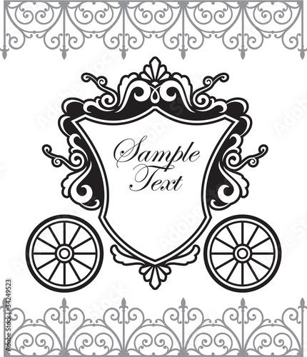 Fotografia invitation design with fairytale carriage
