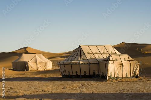 Poster Maroc CAMPO TENDATO NEL DESERTO