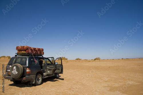 Poster Maroc FUORISTRADA NEL DESERTO