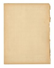 Vieille Page De Cahier D'écolier A Petits Carreaux