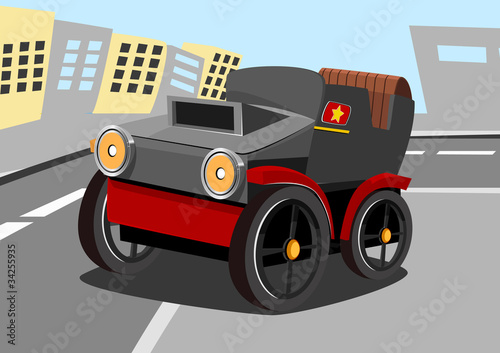 Foto op Canvas Cars cartoon old car nine