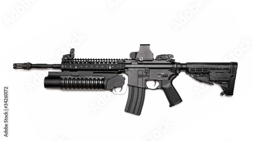 Photo M4A1 assault rifle with grenade launcher