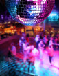 canvas print picture - Dancing under disco mirror ball