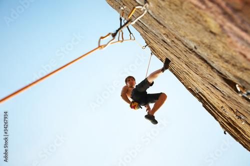 Foto op Canvas Alpinisme climber