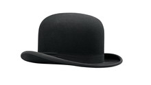 A Bowler Hat Isolated On A Whi...