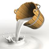 Bucket pouring milk - 34269741