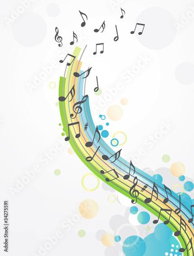 Canvastavla abstract music background