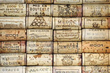 Fototapeta Do winiarni Background of wine corks