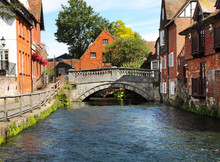 The River Itchen In Winchester...