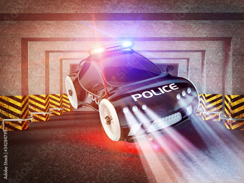 Keuken foto achterwand Cars police car of the future