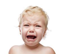 Crying Baby Girl Isolated