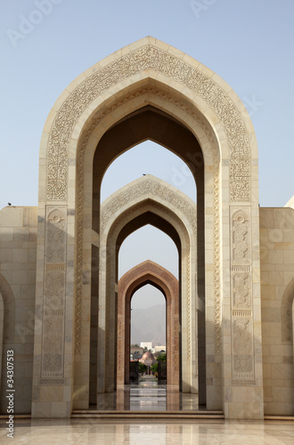 Fototapety, obrazy: Sultan Qaboos Grand Mosque in Muscat, Oman