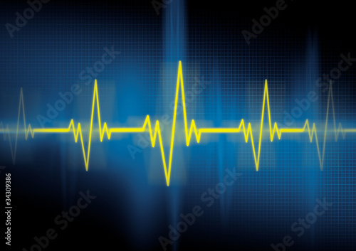 Heartbeat, cardiology Poster