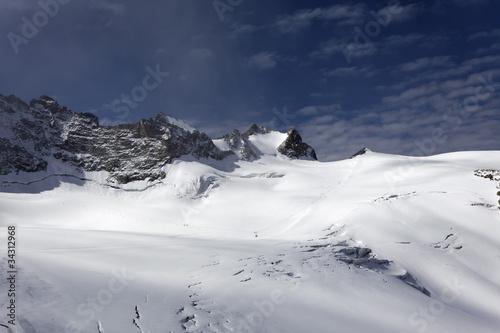 Fotografia, Obraz  crevasses et séracs sur le glacier