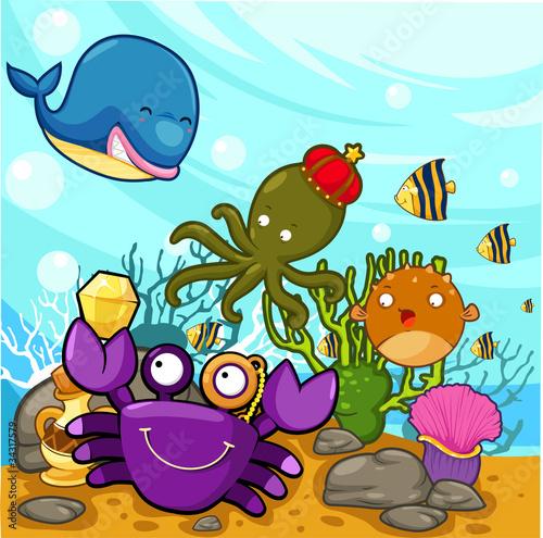 Recess Fitting Submarine illustration Enjoyed under the sea
