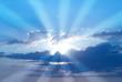 Leinwandbild Motiv Beautiful blue sky