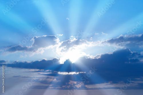 Fotografie, Tablou  Beautiful blue sky