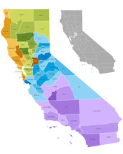 California State Counties Map ...