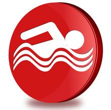 Swimming Pool Glosy Icon