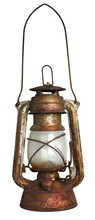 Old Oil Lamp, Isolated On Whit...